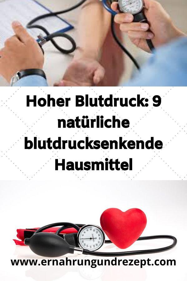 Hoher Blutdruck: 9 natürliche blutdrucksenkende Hausmittel..