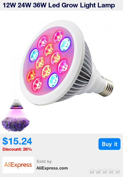 12W 24W 36W Led Grow Light Lamp E27 SMD Plant Growing Lights Bulb Hydroponics Indoor Greenhouse for Vegetable Flower Lighting * Pub Date: 01:09 Jan 27 2018 #hydroponicsindoor