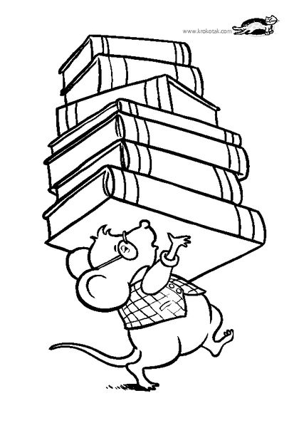 I Visited The Library Today Coloring Pages