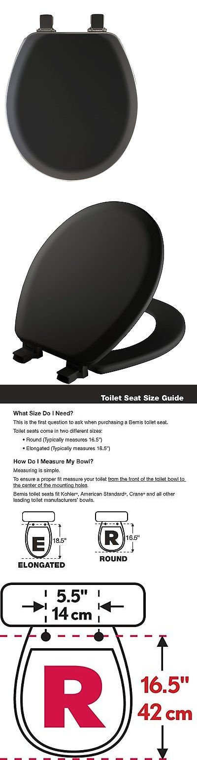 Toilet Seats 37637: Mayfair 41Ec047 Black Round Molded Wood Toilet Seat With Lift-Off Hinges -> BUY IT NOW ONLY: $33.16 on eBay!