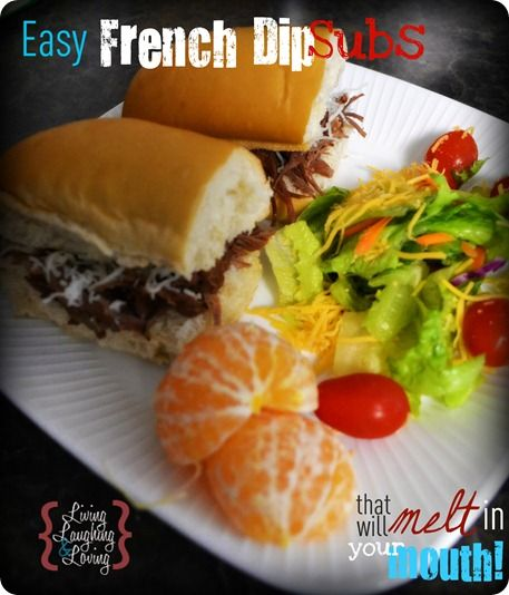 Just a few minutes of prep time for these crockpot french dip subs! Out of this world flavor + CRAZY easy! This is a once-a-week recipe!!