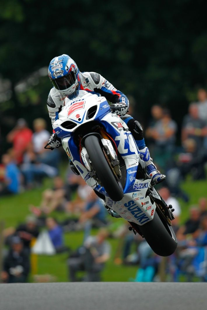BSB. Cadwell. Josh Brookes Tyco Suzuki crashes out of the lead in race 2 after impressive Cadwell moves continue.
