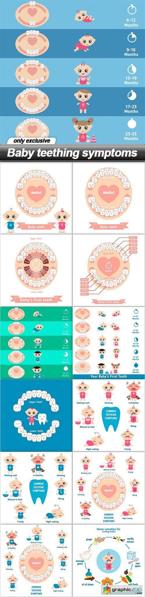 Baby teething symptoms - 13 EPS