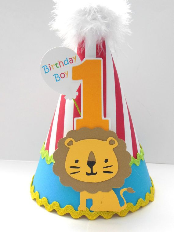 Lil' Lion Circus Party Hat - Carnival -  Birthday Party Hat - Personalized on Etsy, $20.00