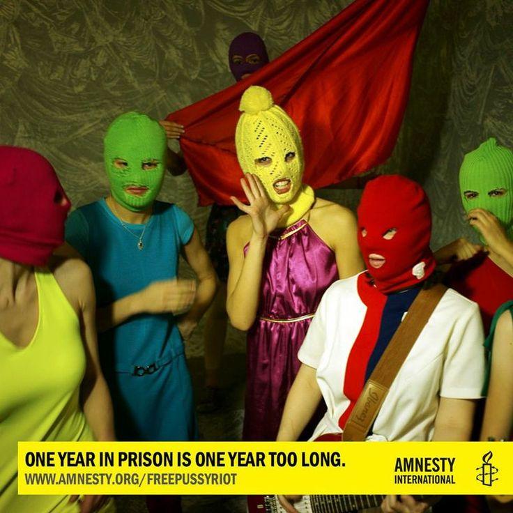Over 100 musicians including Adele, Radiohead, Springsteen, Bjork and Kesha say #FreePussyRiot! Join them:  www.amnesty.org/freepussyriot