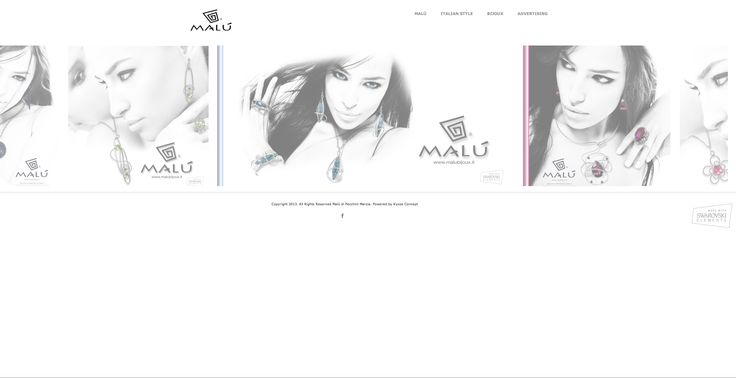 A new stunning web site for Malùbijoux made by @ kyossconcept