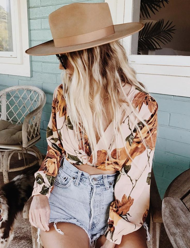 fedora + boho top @dcbarroso