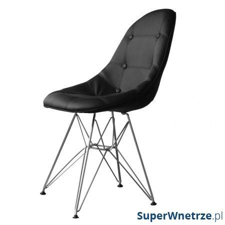 Krzesło King Bath Eames EPC DSR ekoskóra czarne LI-KK-132PU.M.CZARNY