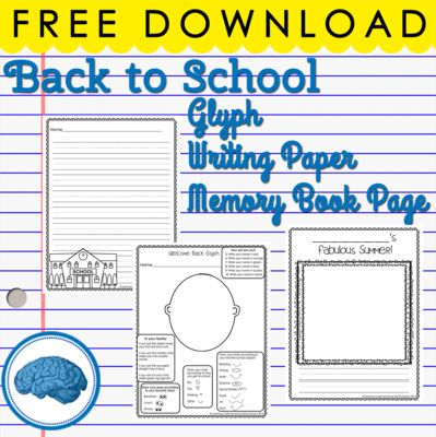 Free Back to School Worksheets | Glyph, Acrostic, Drawing from Selma Dawani on TeachersNotebook.com - (9 pages) - FREE -- Back to School Glyph 2 Acrostic Poems and ___'s Summer sheet to create a class book of summer memories