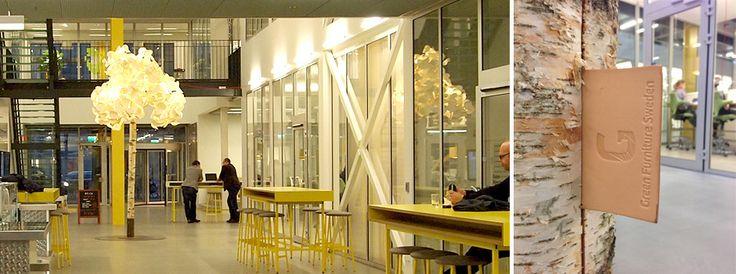 Green Furniture Sweden- Leaf Lamp Tree, Media Evolution City, Malmo Sweden  #greenfurnituresweden #greenfurniture #ecofurniture #ecodesign #mec #mediaevolutioncity #leaflamp #leaflamptree