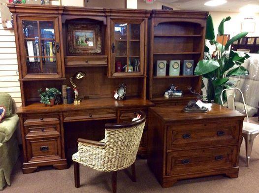 Top Quality Aspen Home Desk W/ Hutch, Bookcase, U0026 Lateral File. $1399