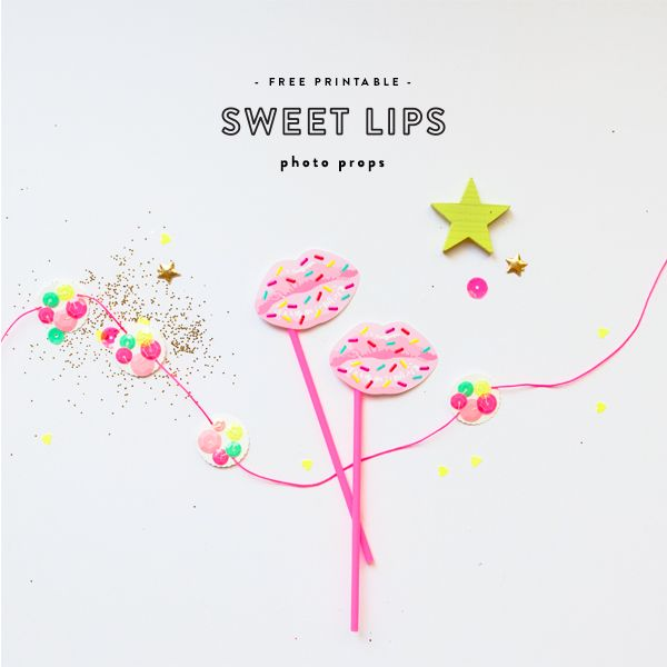 'Sweet Lips' Photo Props for Oh Happy Day