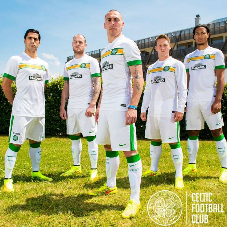 Captain Scott Brown and his teammates launch Celtic's third kit for Season 2014/15.