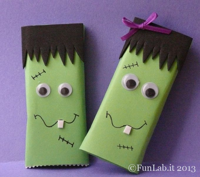 his and hers monsters. Home made Party Favors. http://blog.funlab.it/2013/03/regalini-per-feste-di-compleanno/