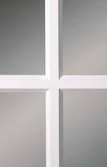 Glasroede met facetprofiel van de Skantrae Accent binnendeuren