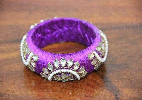 Thick Purple Zardozi Bangle – Desically Ethnic