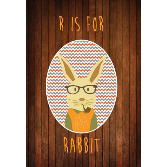 110 best easter gifts images on pinterest gift tags australia r is for radical rabbits print shop now at hardtofind negle Choice Image