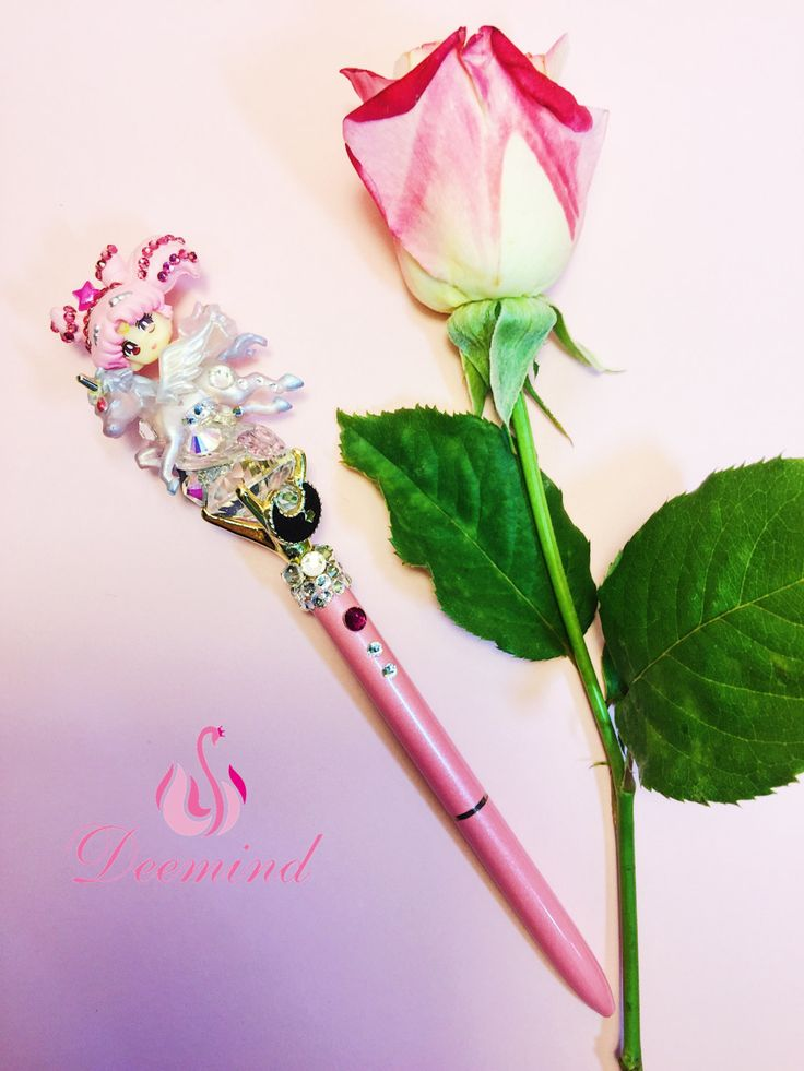 Sailor Chibi Moon Glam Pen, Sailor Moon Crystals, Shining Handmade Faux Diamond Pen, Black Ink, Ballpoint Pens, Kawaii Cute Stationery Pens by Deemindstudio on Etsy