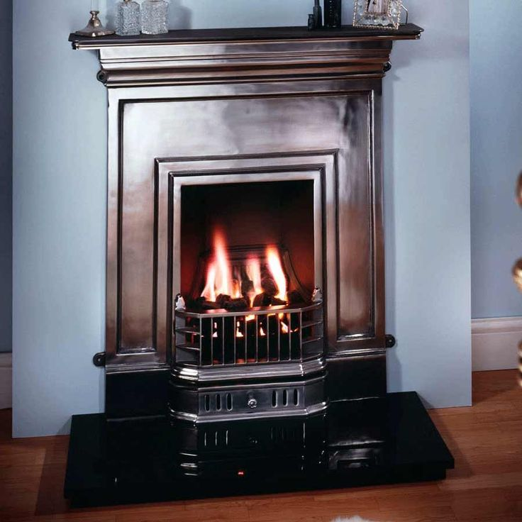Barcelona Polished Cast Iron Fireplace - Cast Iron Fireplaces - Fireplace Packages