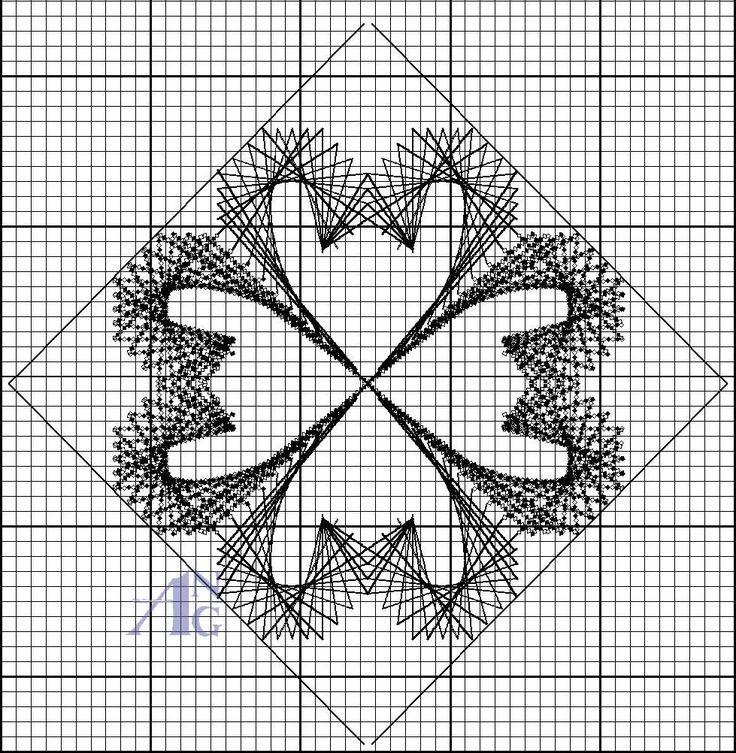 Polski needlepoint 2/4 fleur