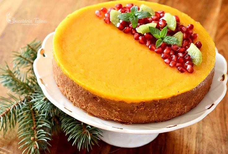 Prăjitură cu brânză de vaci și jeleu de piersici