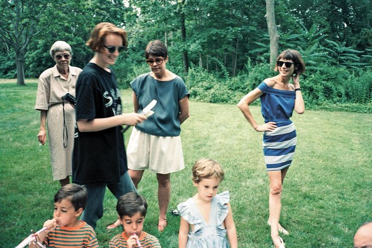 "NSIDE A '70S DIARY WITH ANDY WARHOL AND ANNA WINTOUR   ""Jennifer at Anna Wintour's children's party, Bellport, 1989.""  - The Cut"