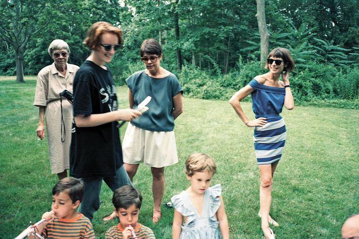 photo by peter schlesinge Jennifer at Anna Wintour's children's party, Bellport, 1989.