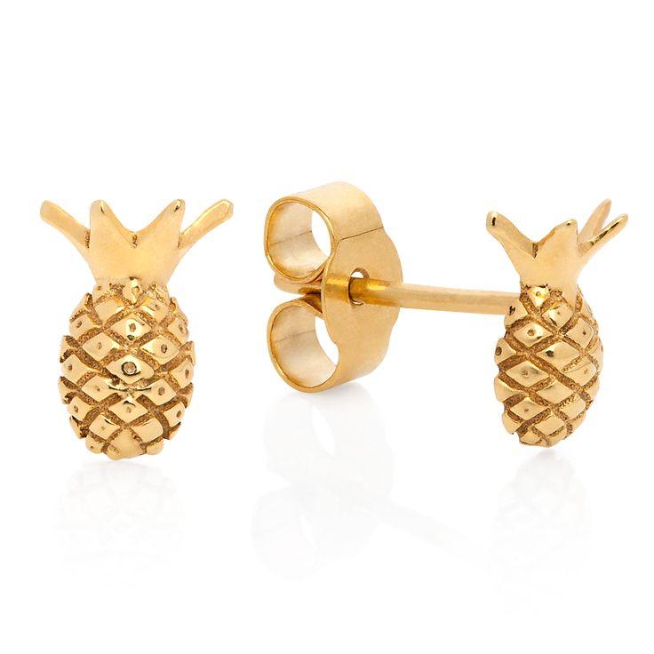 Pineapple Stud Earrings | Lee Renee | Wolf & Badger