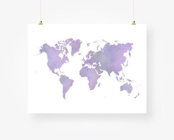 world map purple printable download world map of the world ...