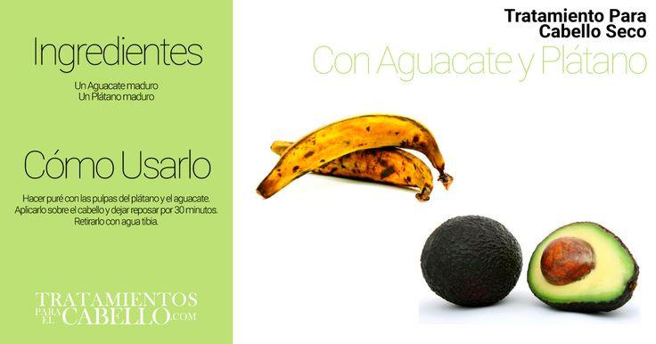 Mascarilla de Aguacate y Plátano | Los Mejores 20 Tratamientos Caseros Para El Cabello Seco