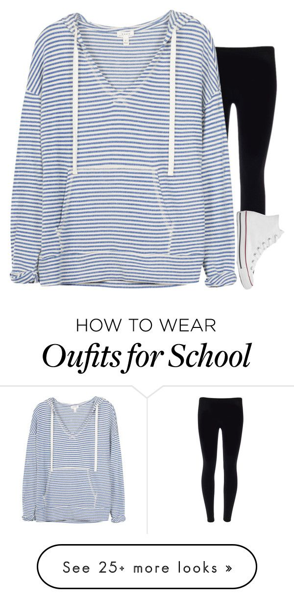 """School"" by sassy-preppy on Polyvore featuring Soft Joie and Converse"
