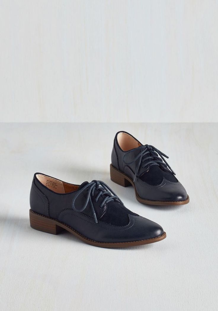 When you find flats as dapper as these navy blue Oxfords by BC Footwear,  you dont let them go!