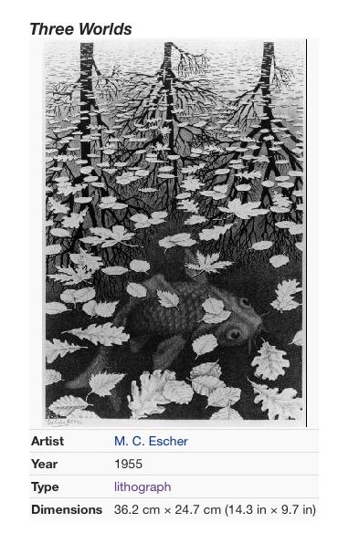 m c escher and mathematics For me it remains an open question whether [this work] pertains to the realm of mathematics or to that of art —mc escher.
