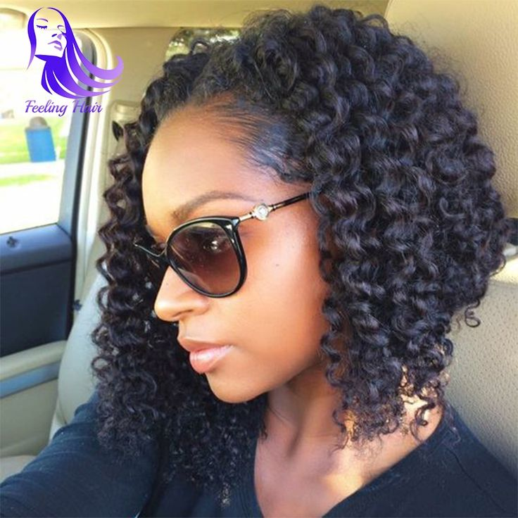 141.78$  Buy now - http://ali4vz.worldwells.pw/go.php?t=32681416678 - human hair curly wigs unprocessed brazilian full lace human hair wigs 7A short bob wigs for black women with baby hair curly wig 141.78$