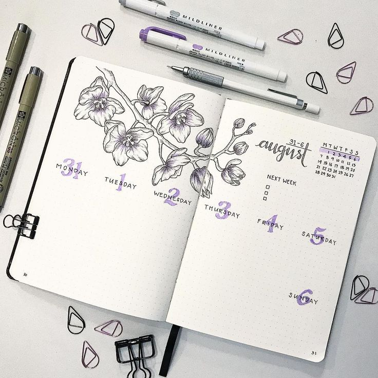 """821 Likes, 62 Comments - K (@bumblebujo) on Instagram: """"My first August weekly! I decided to keep my layout similar to last week's but reduced the size of…"""""""