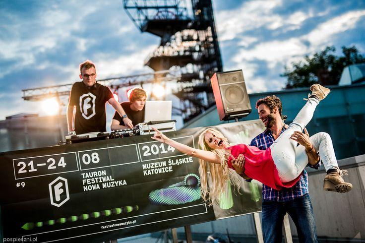W trakcie nagrania nowego spotu reklamowego dla Tauron Festiwal Nowa Muzyka:)