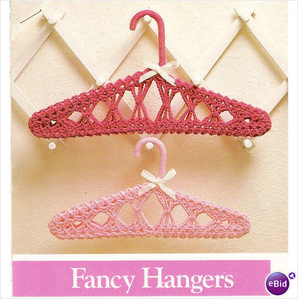 Crochet Single Pattern - Fancy Covered Clothes Hangers