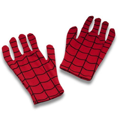 $9.41-$11.99 Child Spiderman Gloves - The kids Spider-Man Gloves are a great character accessory for an authentic super hero costume. These bright red hand gloves feature black spider web print just like the ones he wore in the comic book and movies.  One size fits most kids. http://www.amazon.com/dp/B002M62ES6/?tag=pin2pet-20