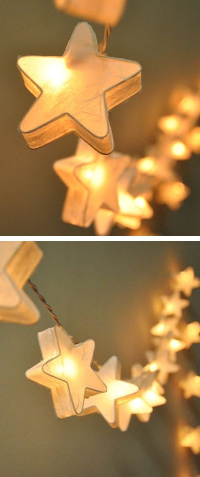 Starry star string lights   lighting design... I wish these lights were in stock!
