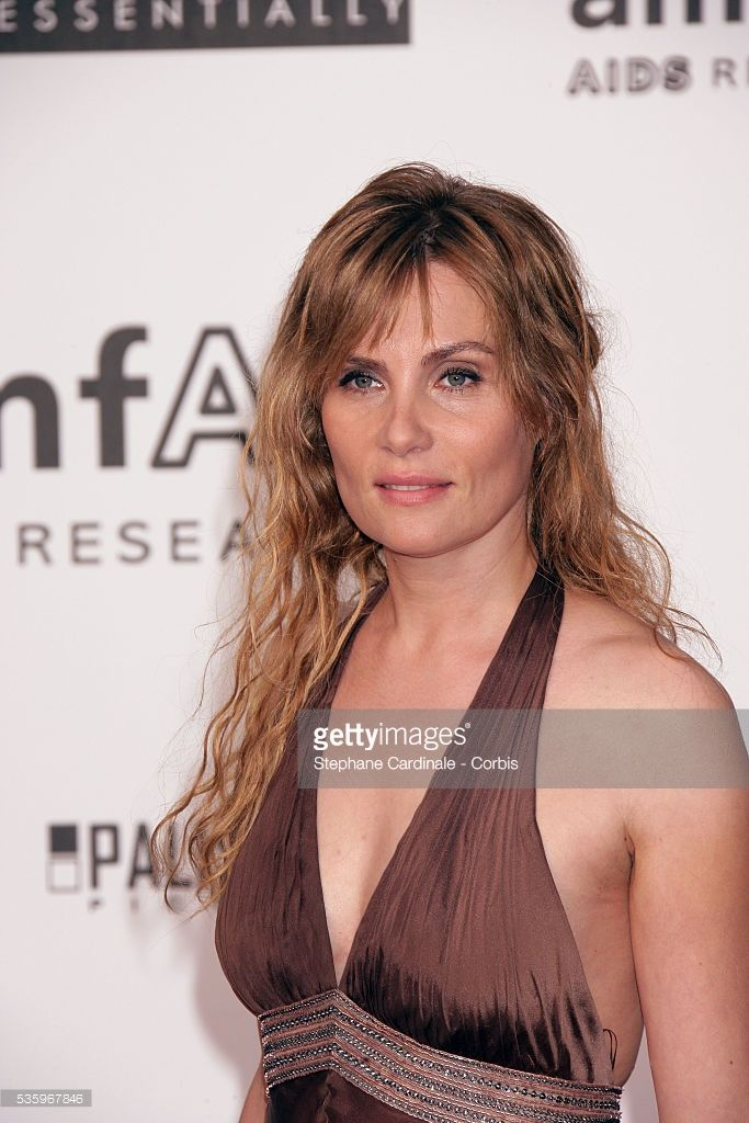 Actress Emmanuelle Seigner at the 'AMFAR' party during the 58th Cannes Film Festival.