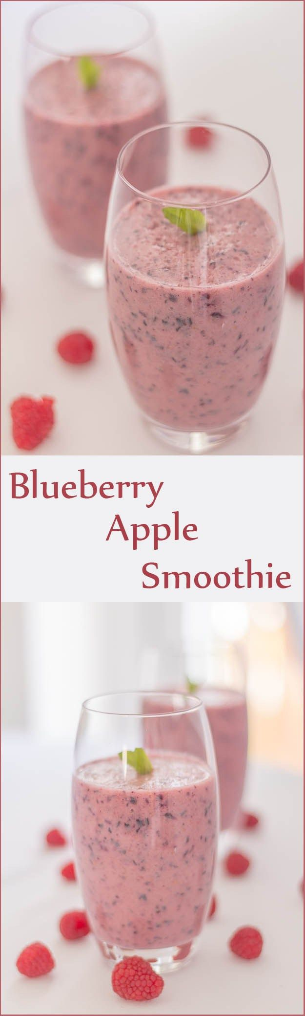 This blueberry apple smoothie is not only healthy but it tastes just great. Ideal as a refreshing wakeup call in the morning or as a pick me up during the day.