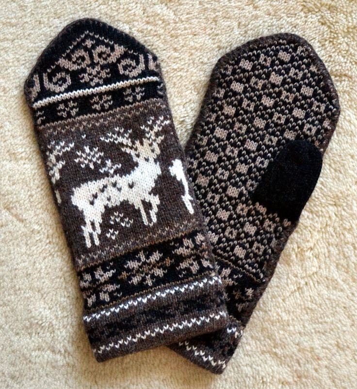 Norwegian Wool Mittens from Etsy