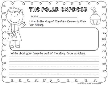 Printable from The Polar Express for Firsties by First Grade Schoolhouse. FIRST GRADE. $ Literacy and math activities and centers based on the book, The Polar Express, by Chris Van Allsburg. Includes graphics by Fancy Dog Studio http://www.fancydogstudio.com and Scrappin Doodles http://www.scrappindoodles.com    http://www.teacherspayteachers.com/Store/First-Grade-Schoolhouse