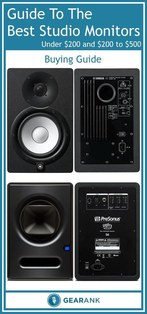 Guide to The Best Studio Monitors - Under $200 & Under $500 - 2017 Update. In addition to a recommended list of the highest rated monitors, this guide provides advice on topics including speaker size, frequency response, power rating, positioning and the sweet spot.
