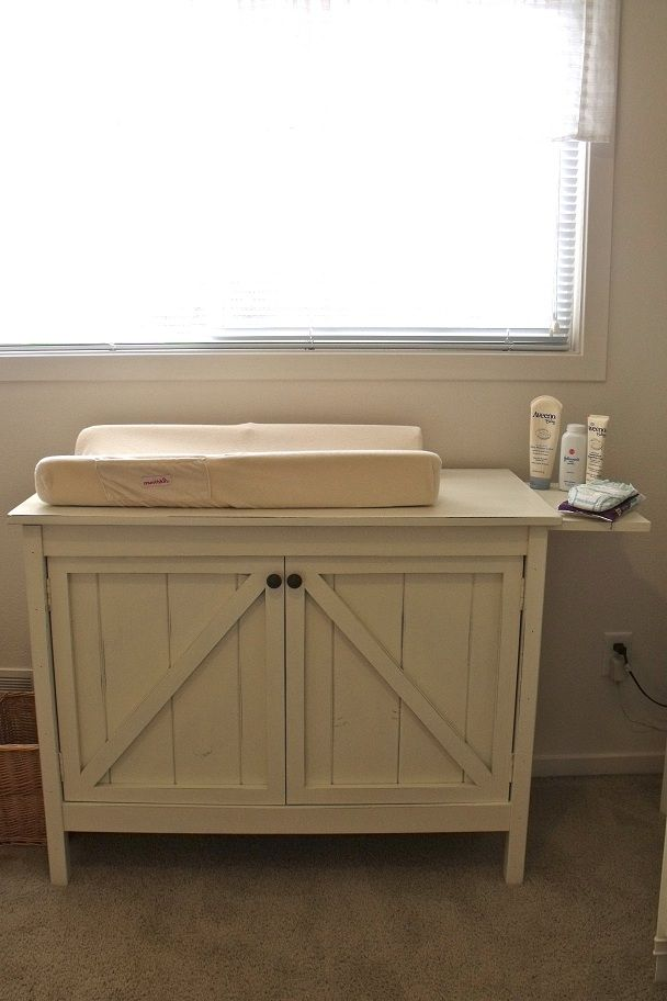 Ana White | Build a Changing Table - Brookstone | Free and Easy DIY Project and Furniture Plans    @Lindsay Kaye, check this out!