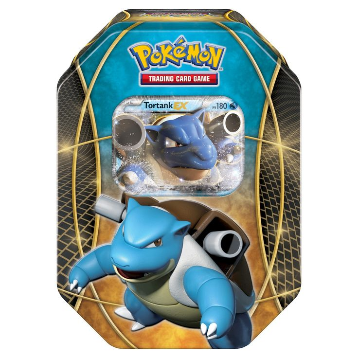2016 Pokemon Trading Cards Best of EX Tins featuring Blastoise Board Game