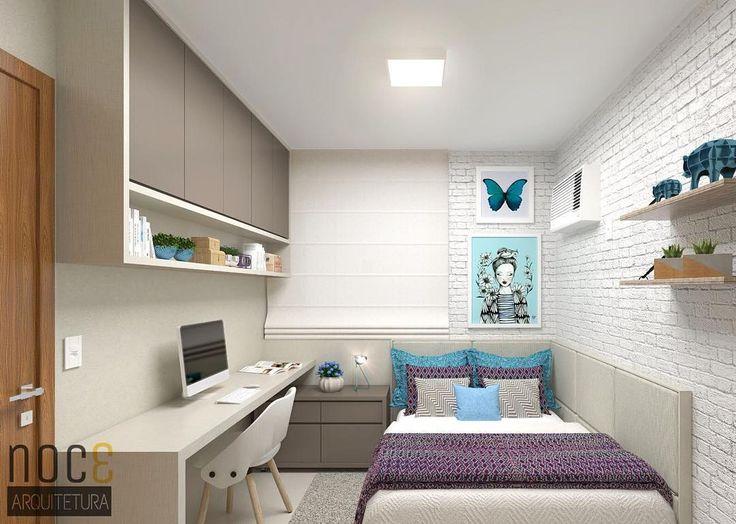"""2,026 Likes, 41 Comments - NOCƐ Arquitetura (@noc3arquitetura) on Instagram: """"Um quarto super delicado para nossa querida cliente @gsuzin , onde o toque de colorido fica por…"""""""