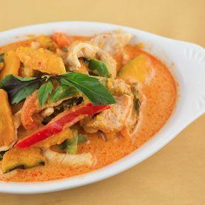 Red-Thai-Curry-Huhn mit Kürbis