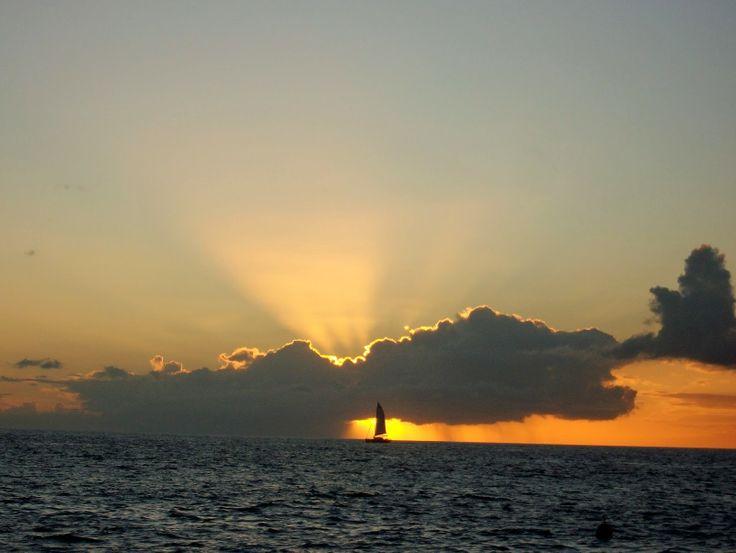 Couché de soleil Bouillante Guadeloupe