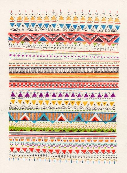 African pattern color border